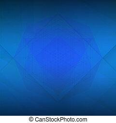 geometria, azul, sagrado, fundo