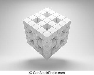 geometria, cubos, desenho