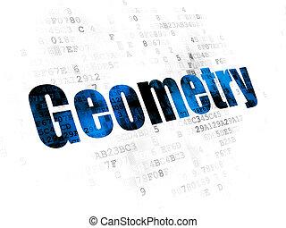 geometria, educazione, concept:, fondo, digitale