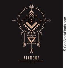 geometria, esotérico, tribal, aztec, pretas, sagrado,...