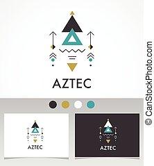 geometria, esoterico, tribale, azteco, sacro, mistico, forme, alchimia, simbolo, icona
