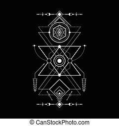 geometria, magia, navajo, triangolo, sacro