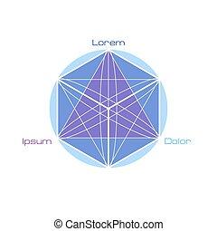 geometria, símbolos, sagrado, elements.