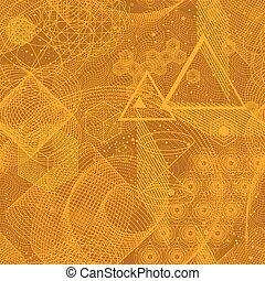 geometria, SÍMBOLOS,  seamless, sagrado, Padrão
