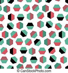 geometria, seamless, astratto, modello, fondo, colorito