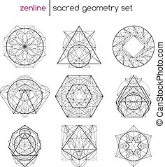 geometria, set, sacro