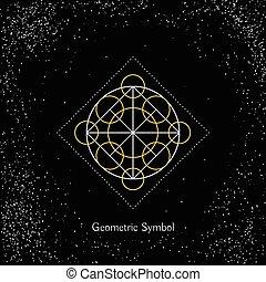 geometria, wektor, magia, znak