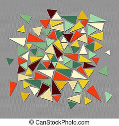 geometriai, elements., divatba jövő, szüret, csípőre szabott