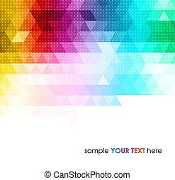 geometriai, háttér, elvont, színes