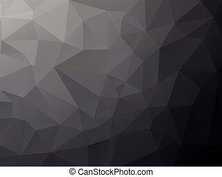 geometriai, háttér, mély, fekete