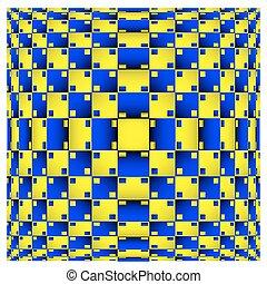 geometriai, háttér., vektor, dinamikus, effect., illusion., varázslatos, art., 3, elferdítés, látási