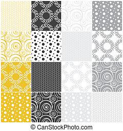geometriai, seamless, patterns:, ékezetez, karikák, és, lenget