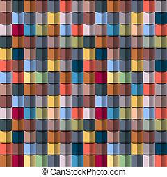geometriai, színes, szerkezet