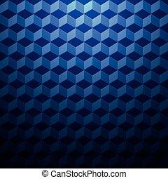 Geometric 3d cubes.