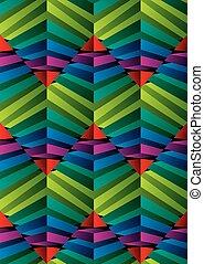 Geometric 3d seamless pattern.