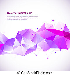 Geometric abstract background. Vector illustration for your design