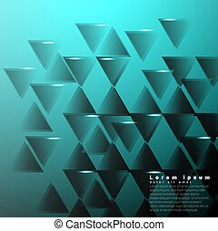 Geometric abstract background with triangles. Vector illustration