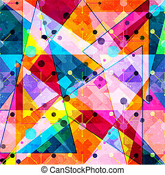 geometric abstract color pattern in graffiti style. Quality illustration for your design