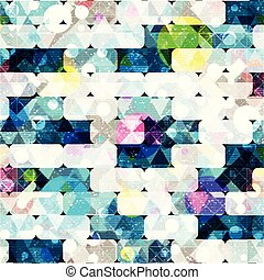 geometric abstract color pattern in graffiti style. Quality...