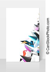 Geometric abstract composision. Modern triangles background.