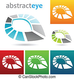 geometric abstract eye shape