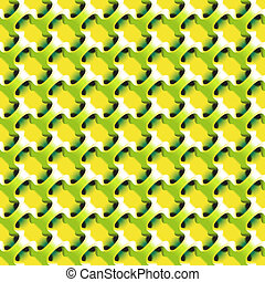 Geometric abstract lime color pattern