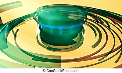 Geometric abstract loop two