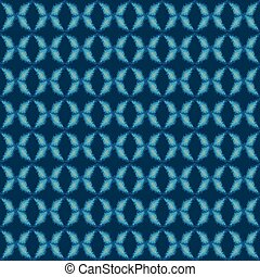 geometric abstract ornament seamless vector pattern in classic blue colors