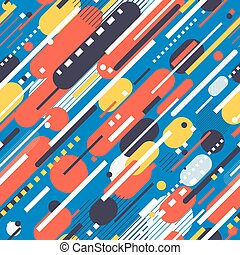 Geometric Abstract Pattern - Vector Seamless Parallel...