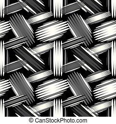 geometric abstract seamless pattern on a black background