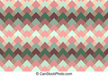 Geometric abstract seamless pattern with diamond gradient .