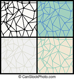 Geometric Abstract Seamless Polygonal Backgrounds