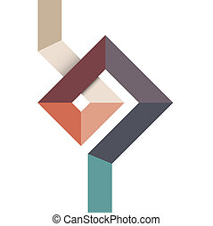 Geometric abstract shape for design
