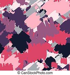 Geometric abstract spots seamless pattern. Hand drawn ...