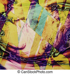 Geometric abstract vintage colored background. With different color patterns: yellow (beige); green; blue; red (orange); purple (violet); pink