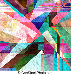 Geometric abstract watercolor background