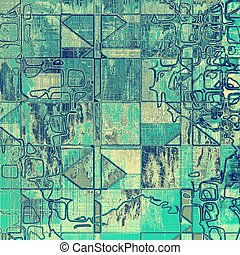 Geometric ancient textured background or shabby backdrop. With different color patterns: yellow (beige); gray; blue; cyan