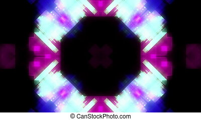 Geometric and particles VJ looping abstract animated background