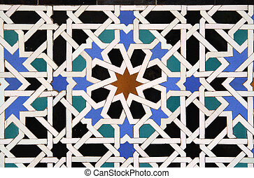 Arabic Tile Background - Geometric Arabic Tile Background...