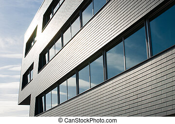architectural lines of an industrial building - geometric ...