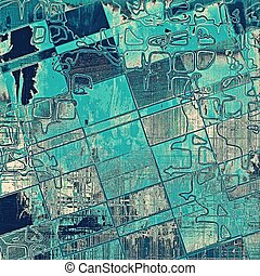 Geometric art grunge texture for creative design or scrap-book. With vintage style decor and different color patterns: gray; blue; white; cyan