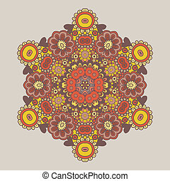 Geometric background / Circle floral ornament