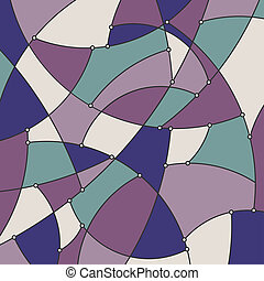 Geometric Background in Shades of Purple