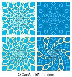 Geometric Background Set. Oriental Style. Vector.