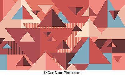 Geometric background. Triangles in pastel colors
