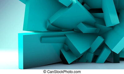 Geometric background, wall deformation futuristic abstract...
