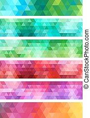 geometric banner backgrounds set