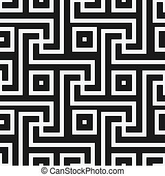 geometric black and white seamless pattern in antique roman...