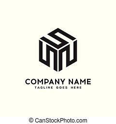 geometric black logo design vector template