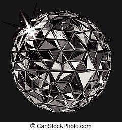 Geometric Black polygonal ball. - Black polygonal ball....